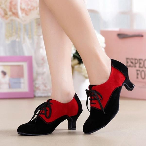 Picture of Women Latin Modern Ballroom Dancing Tango Salsa Dance Shoes Heeled