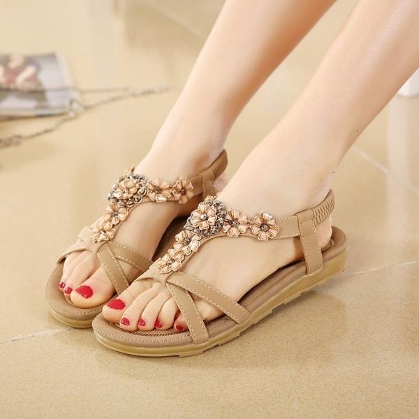 635c0a664449 Summer Women Sandals 2019 Gladiator Sandals Women Shoes Bohemia Flat ...