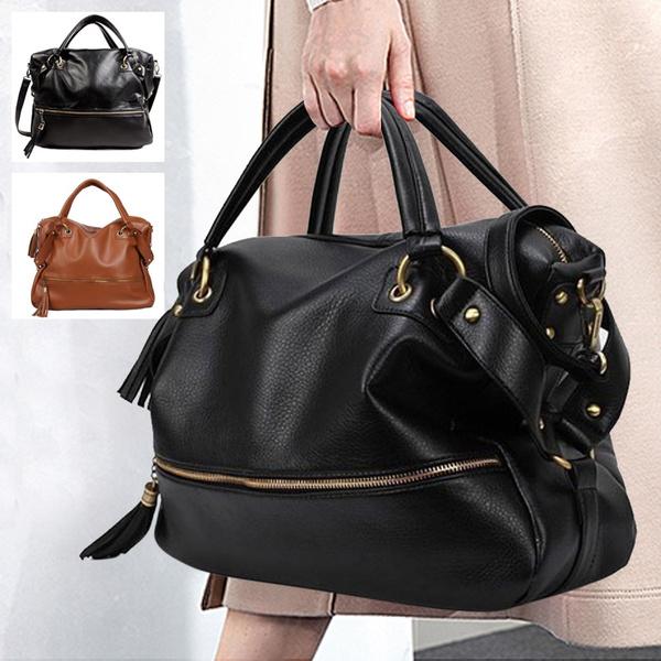 Picture of Big Capacity Black Women's Shoulder Handbag Casual