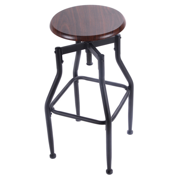 Awe Inspiring New Vintage Bar Stool Metal Design Wood Top Height Adjustable Swivel Industrial Squirreltailoven Fun Painted Chair Ideas Images Squirreltailovenorg