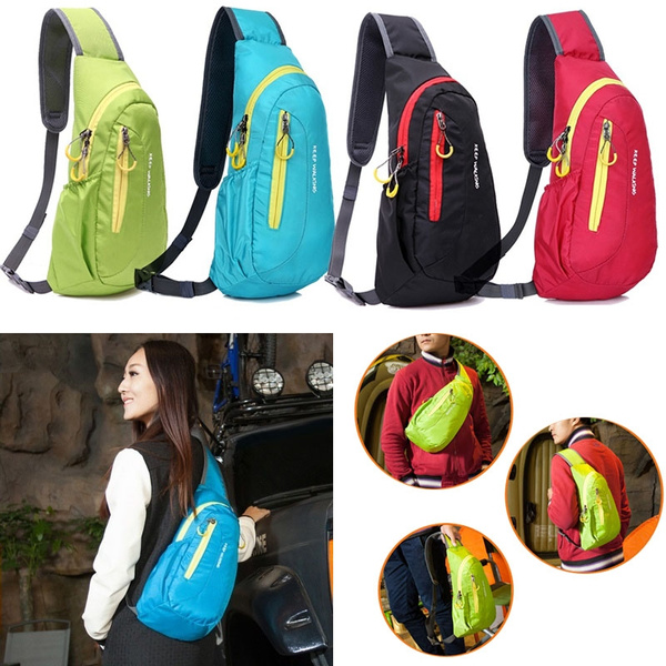 Picture of Unisex Nylon Waterproof Sports Chest Bags Men Women Running Shoulder Messenger Diagonal Package Multipurpose Outdoor Sports Bag