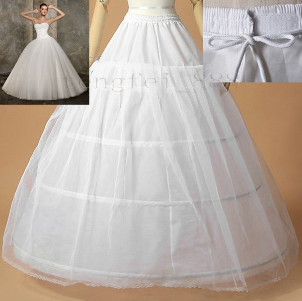 36746c781be7 Hot sale 50% off 3 HOOP Ball Gown BONE FULL CRINOLINE PETTICOAT ...