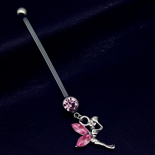Wish 38mm Long Bar Ptfe Flexible Pregnancy Belly On Rings Body Piercing Jewellery Pregnant