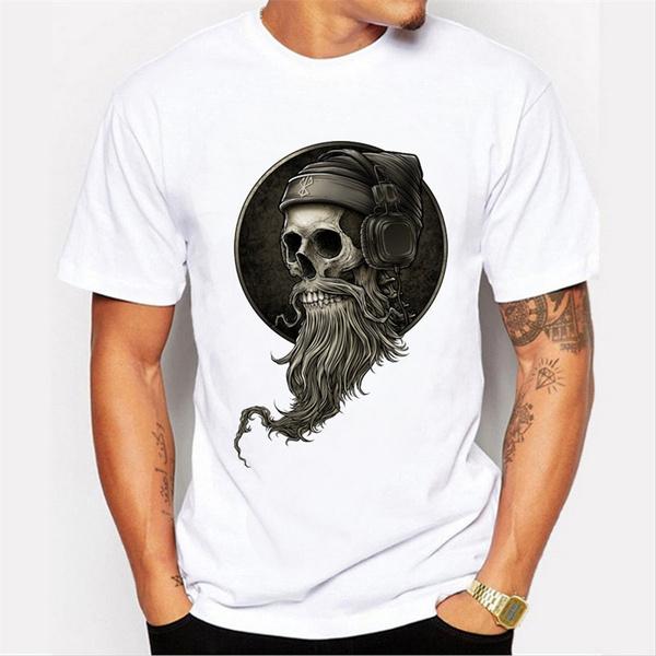 Funny, Printed T Shirts, Vintage, skull