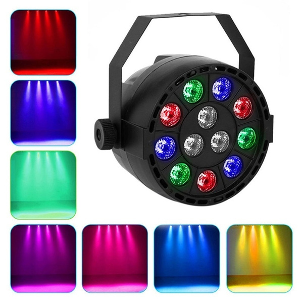 Picture of Par Up Lighting Slim Par Led Light Dj Dmx Color Mixing 8ch Can Background Stage Sound Activated Stand Lamp 12 Leds For Wedding Ktv Bar Pub Mns