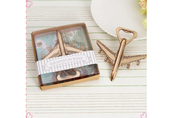 Refined to create New Airplane Bottle Opener Adventure Wedding Favor Gift Aircraft Bar Beer Wine Kitchen Tools #tain85#
