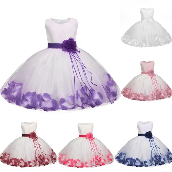 c958c674cf4e1 Cute Fashion Baby Girls Flower Christening Gown Baptism Clothes ...