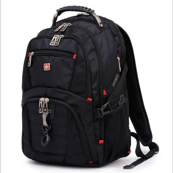 Picture of Fashion Swiss Gear Waterproof Travel Bag Laptop Backpack Computer Notebook School Bag Color Black