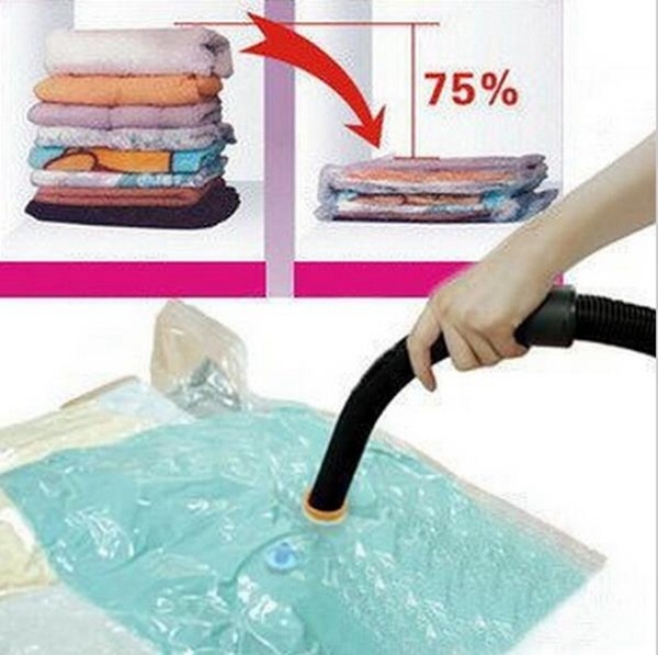 1 Piece Practical Large Space Saver Saving Storage Bag Vacuum Seal Compressed Organizer