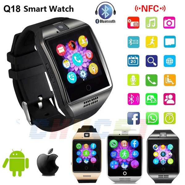 Nfc Bluetooth Smart Watch Q18 With Camera Facebook Sync Sms Mp3