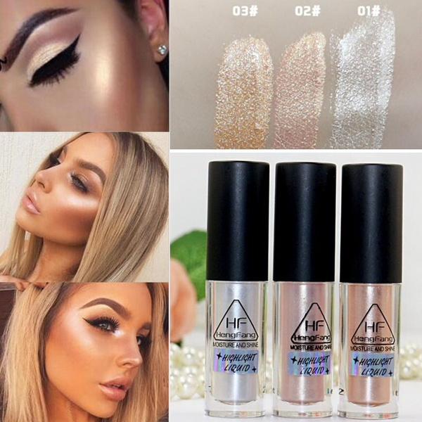 Make Up Gold Highlighter Liquid Cosmetic Face Eye Contour Brightener Glow Shimmer Liquid Highlighter Makeup