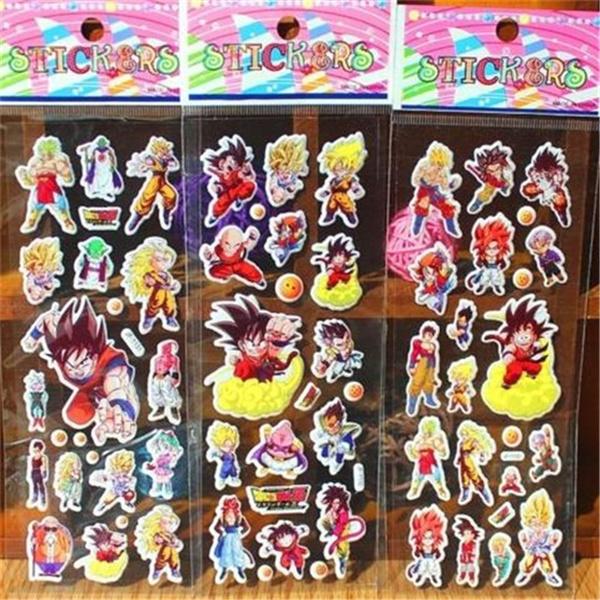 FD4328 Puffy Japan Anime Dragon Ball Z Stickers for Dragon Ball Z Fans ~3PCs~*