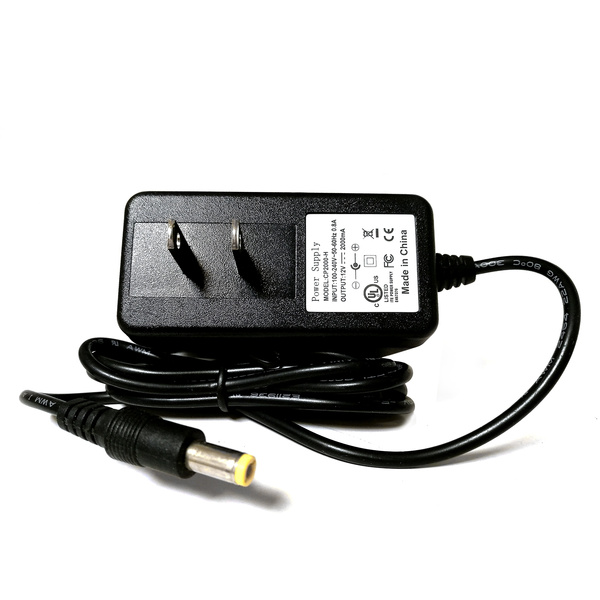 Power Supply 12V DC 2A UL listed 3 94ft cable power adapter for cctv  Security video Camera and other 12V 2A Device
