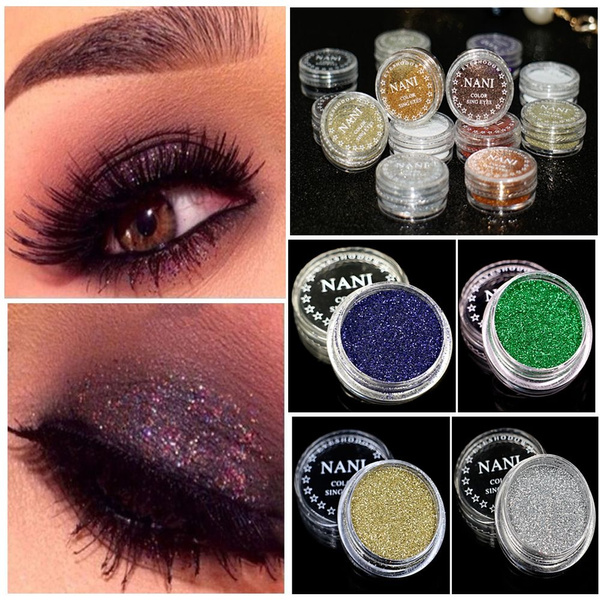 Picture of 4pcs Fashion Pigment Set Loose Glitter Powder Eyeshadow Cosmetic Makeup