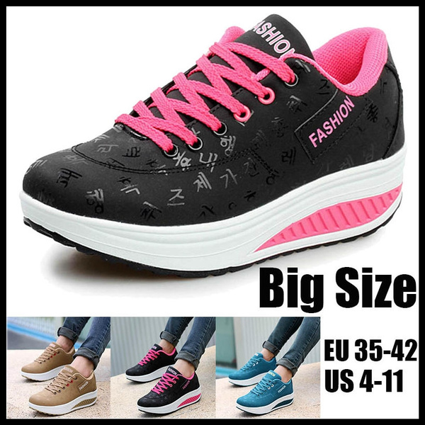 Picture of New Women's Fashion Outdoor Sports Sneakers Increase Casual Fitness Leather Shoes Plus Size