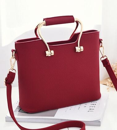 Picture of Korean Style Women Top-handle Bag Faux Leather Handbag