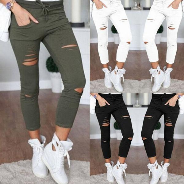 womens ripped leggings