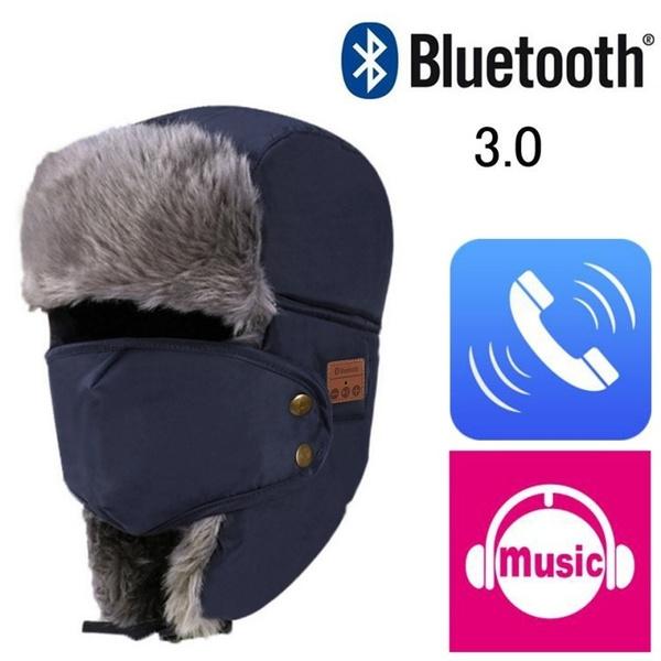 e45f4f1b2 Men Women Winter Ushanka Trapper Aviator Earflap Bluetooth/Without  Bluetooth Ski Hats With Mask Cap Hood