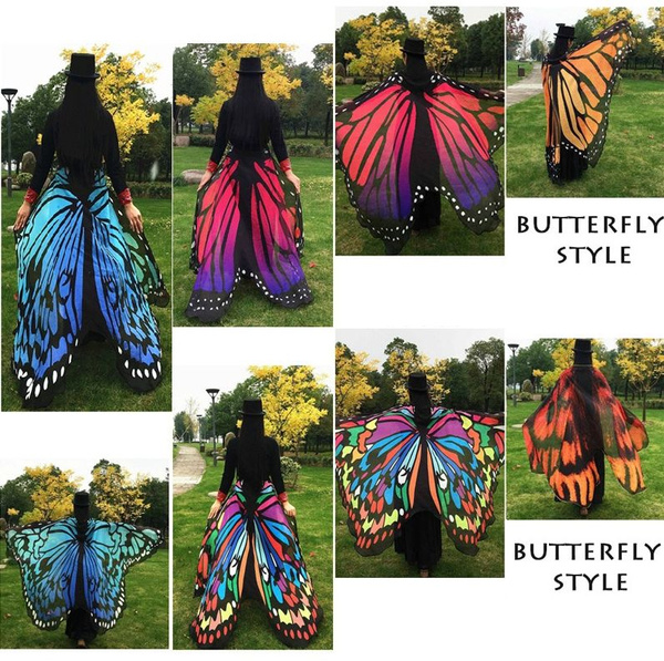 Butterfly Wings Shawl Wrap Scarf Shawl Cape Butterfly Costume Butterfly  Wing Scarf