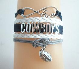 Charm Bracelet, americanfootballbracelt, Dallas, Infinity