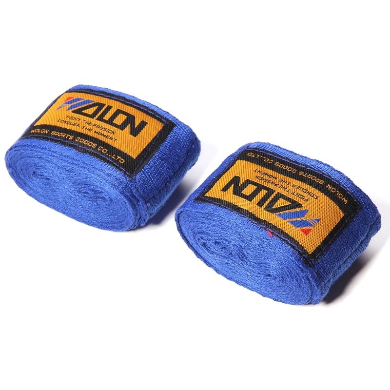 2pcs/pack 2.5M Cotton Kick Boxing Bandage Wrist Straps Sports Sanda Taekwondo Hand Gloves Wraps Bandagem Muay Thai