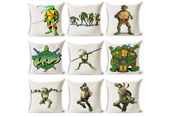 Ninja Turtles Slaapkamer.Fashion Novelty Animation Ninja Turtle Decoration Pillow Cover