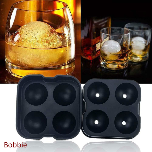 Ice Cube Maker 6 Ball Silicone Mold Sphere Mould Round Tray for Party Bar Whisky