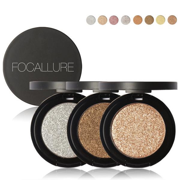Picture of Focallure Makeup Metallic Matte Eyeshadow Palette Make Up Shimmer Glitter Eye Shadow