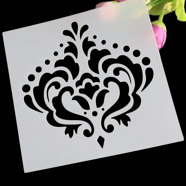 Crown Diy Masking Spray Stencil Layering Stencils Wall Painting Decorative Scrapbook Album Embossing Paper Cards