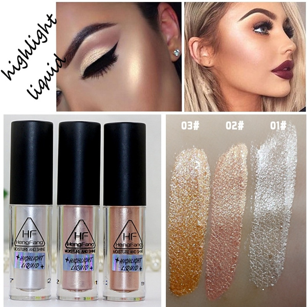 Picture of 2017 New Brand Makeup Gold Highlighter Liquid Cosmetic Face Contour Brightener Glow Shimmer Liquid Highlighter Makeup Kit