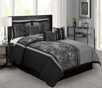 Gray, comforterburgundy, bedinabag, duvet