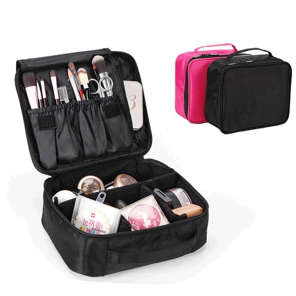 Professional Makeup Bag Organizer Digital Box Bags Travel Suitcase Cosmetic Pouch Handle Small Brushes Case