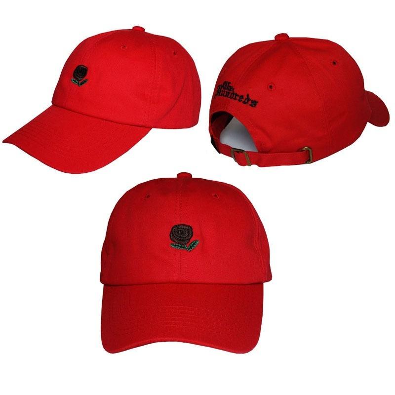 6cf563278ba57 Fashion Canvas Couple Hats THE HUNDRED Flower Rose Embroidery Snapback Dad Hats  Baseball Cap Trapback Hip Hop CapsEC0117720