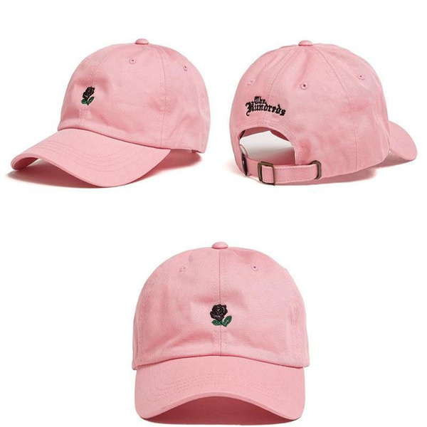 Fashion Canvas Couple Hats THE HUNDRED Flower Rose Embroidery Snapback Dad Hats Baseball Cap Trapback Hip Hop Caps