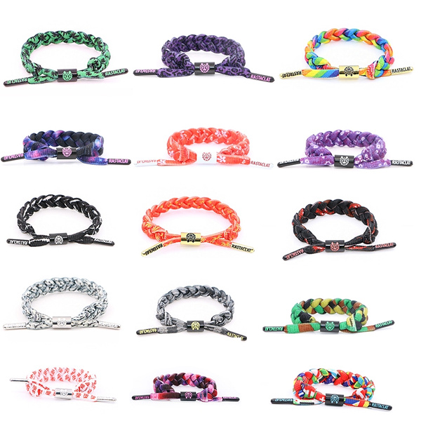 Picture of Multi-color Handmade Little Lion Rastaclat Shoelaces Casual Bracelet Wristband Unisex