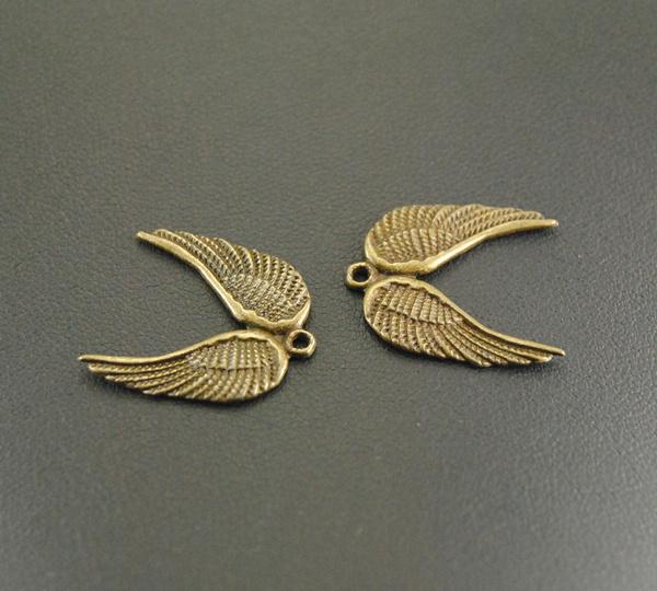Antique, silverwingpendant, diy, angelwingscharm