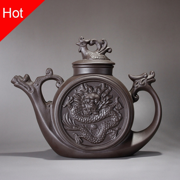Ceramic teapot,Traditional Chinese Tea pot Dragon and Phoenix Tea kettle Premium