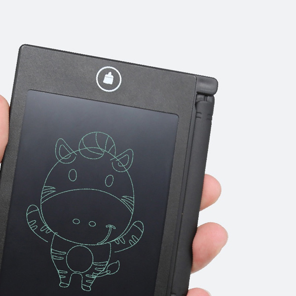 Slendima 4.5 Portable Reusable Paperless Memo Pad Electronic LCD Writing Tablet Drawing Board Birthday for Friend Kids Black
