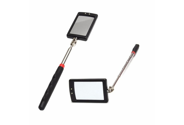 Telescopic Inspection Stick Mirror 2 Bright Led Light Extends 29-87Cm Car Home