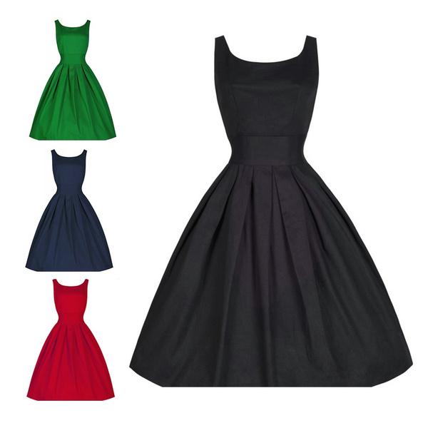 e7cc8ab8267 1950s Vintage Party Swing Dresses Women Formal Bridesmaid Dress