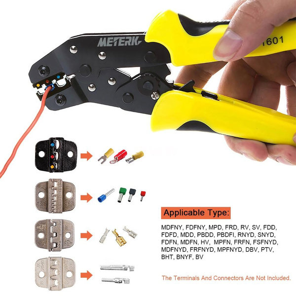 4 In 1 Wire Crimpers Ratcheting Terminal Crimping Pliers Cord End Terminals Tool