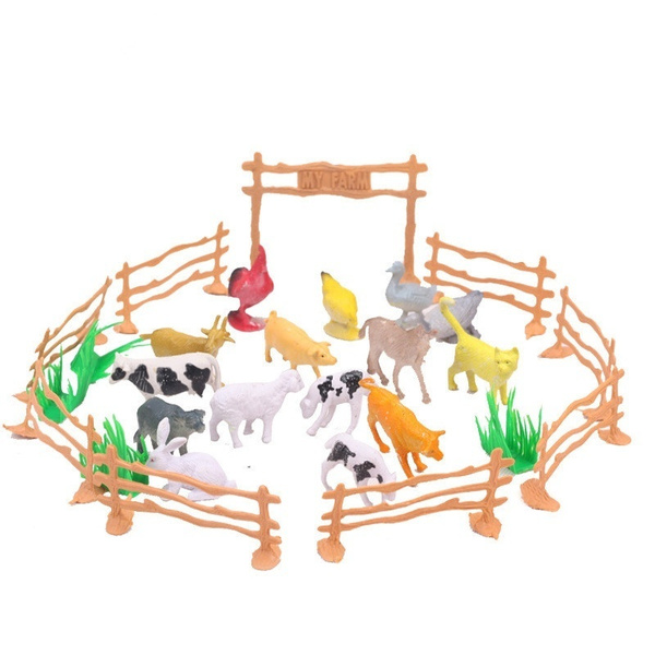 10pcs Farm Animals Fence Toys Military Fence Simulation Model Toy for Children