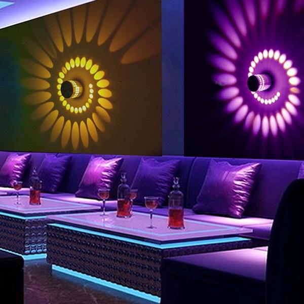 Creative Led Wall Lamp Rgb Modern Light Fixture Luminous Lighting Sconce 3w Ac85 265v Indoor Decoration