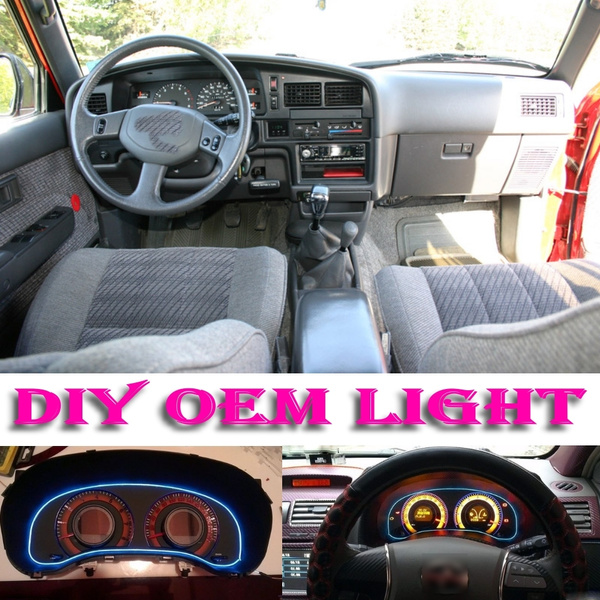 Car Atmosphere Light Flexible Neon Light EL Wire Interior Light Decorative  Decals Tags Inside Tuning For TOYOTA Paseo