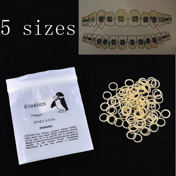 New Dental Elastic Rubber Bands Orthodontic Braces Bands Wish