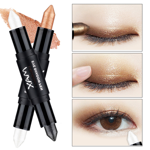 Picture of Brand Eyeshadow Stick Double Colors Glitter Makeup Professional Metallic Matte Pencil Cream Beauty
