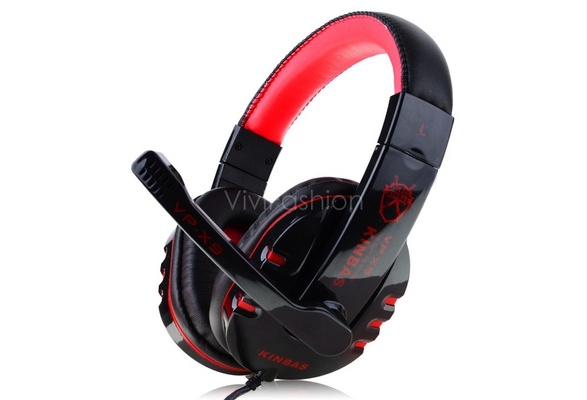 VP-X9 High Quality NdFeB Hi Fi Speakers Surround Gaming Headset Stereo Bass Headphone with Micphone for Computer Gamer VVF