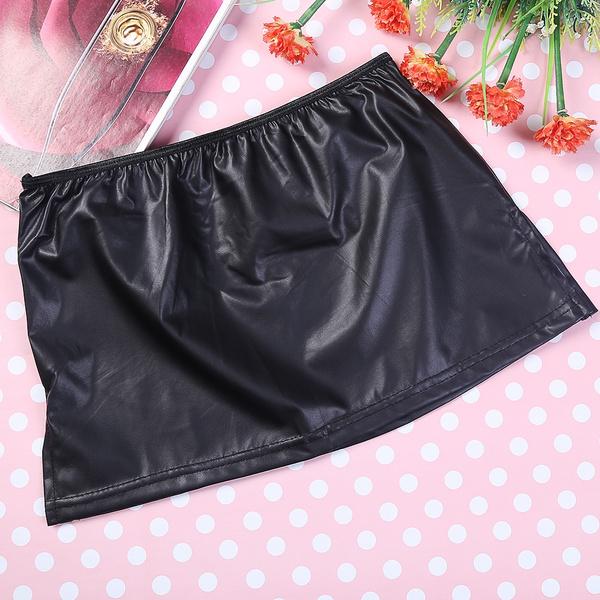 Sexy women short skirt thong think