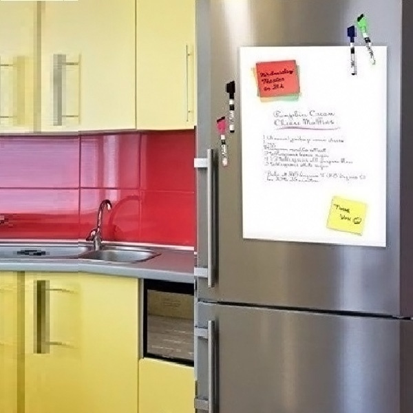 Wish | Creative A3 Magnetic Whiteboard Fridge Home Kitchen Office Reminder Magnet  Dry Erase Board White Color