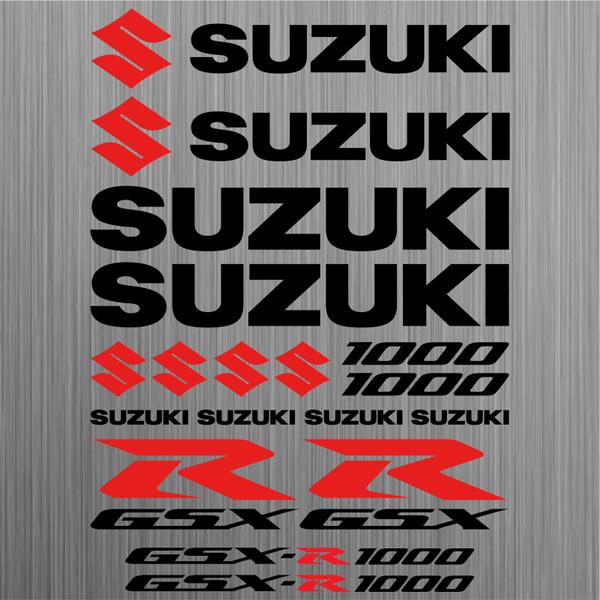 Suzuki Gsx R1000 Aufkleber Sticker Motorrad Motorcycle 18 Stücke Pieces